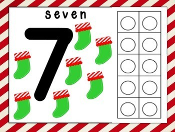 Christmas Play Dough Number Mats 1-20