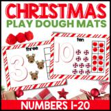 Christmas Play Dough Number Mats 1-20