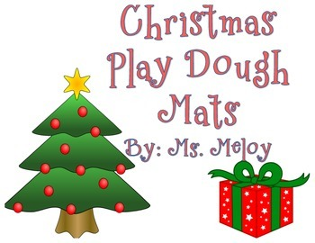 Christmas Play Dough Number Mats