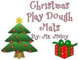 Christmas Play Dough Number Mats