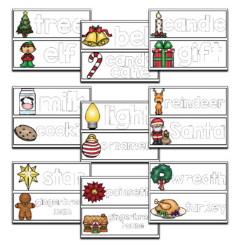 Christmas Play Dough Word Mats