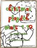 Christmas Playdoh/ Counting Ten Frame Mats for Numbers 1-19