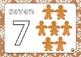 Christmas Playdoh Gingerbread Number Mats 1-10