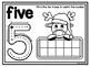 Christmas Playdough Mats (1-10 in color & bw)
