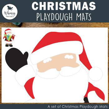 Christmas Playdough Mats