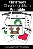 Christmas Playdough Mats Printable