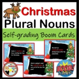 Christmas Plural Nouns Boom Cards - 24 Self-checking cards!