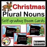 Plural Nouns Boom Cards Christmas Themed Digital Grammar