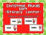 Christmas Plurals Literacy Sort
