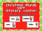 Christmas Plurals Literacy Sort