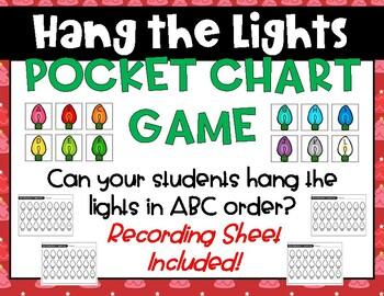 Christmas Pocket Chart Game: ABC Order