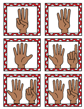 Christmas Pocket Chart Game *Numbers 1-10*