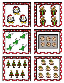 Christmas Pocket Chart Game *Numbers 1-10*
