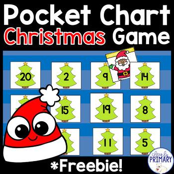 Christmas Pocket Chart Game: Numbers 1-20