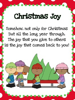 Christmas Poems Pack 1