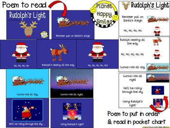 Christmas Activity ~ Poetry:  Rudolph's Light