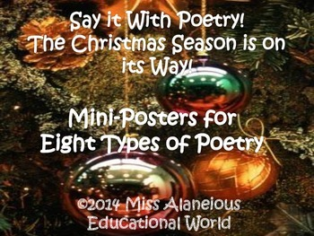 Christmas Poetry! Express Yourself With Eight Different Forms of Poetry!