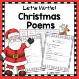 Christmas Poetry Writing Frames