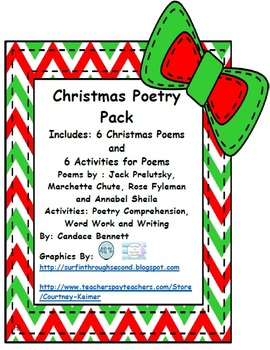Christmas Poetry Pack - 6 Christmas Poems and 6 Activities
