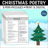 Christmas Poetry Comprehension Worksheets