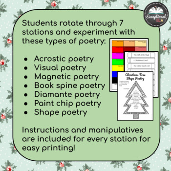 Christmas Poetry Stations for Secondary ELA