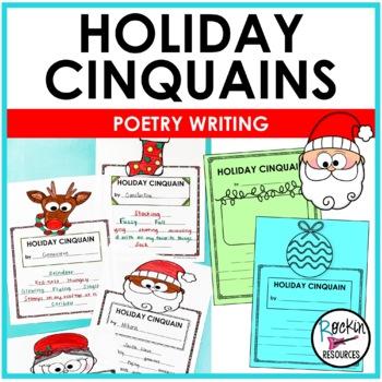 Christmas Poetry Writing- Cinquains