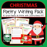 Christmas Poetry Writing Pack - 10 Poems to Write - Lower Secondary Fun Writing