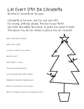 Christmas Poetry with Interactive and Guided Notes