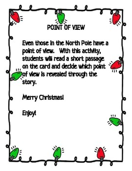 Christmas Point of View FLASH CARDS
