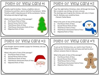 Christmas Point of View Task Cards