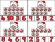 Christmas Polar Bear Clip Card/Number Recognition