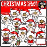 Christmas Polar Bears Clip Art Bundle {Educlips Clipart}