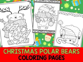 Two beautiful polar bears in Arctics printable coloring page, sheet | 263x350