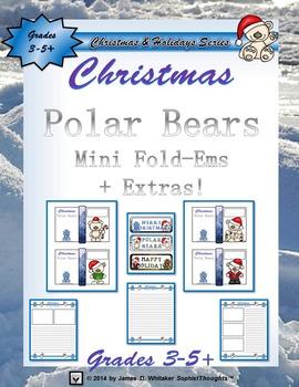 Christmas Polar Bears Mini Fold-Ems and Writing Templates