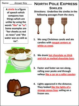 Christmas Reading Activities:North Pole Express Activity Packet