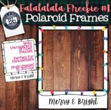 Christmas Polaroid Frame Clipart Freebie