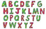 Christmas Polka Dot Letters