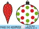 Christmas Polka Dot Ornaments Clipart