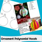 Christmas Polynomial Vocabulary Ornaments