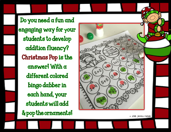 Christmas Pop Math Printables {Addition Sums to 10}