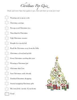 Christmas Pop Quiz
