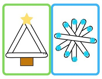 Christmas Popsicle Stick Craft Printable Template