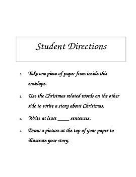 Christmas Portable Writing Center