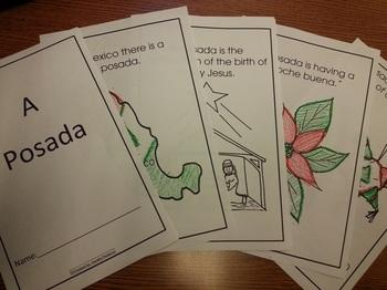 Christmas Posadas coloring booklet English and Spanish Social Studies Cscope CC