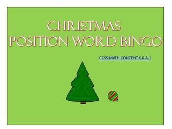 Christmas Position Word Bingo (small group)