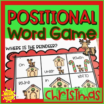 Christmas Positional Word Game | Special Education and Autism Resource