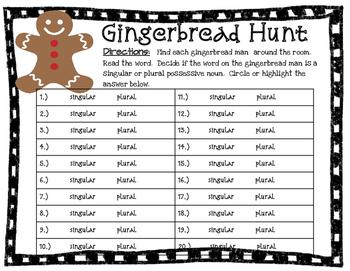Christmas Possessive Noun Hunt