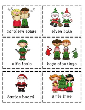 Christmas Possessive Singlar and Plural Nouns