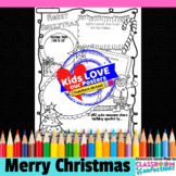 Christmas Writing Activity: Poster with Writing Prompts