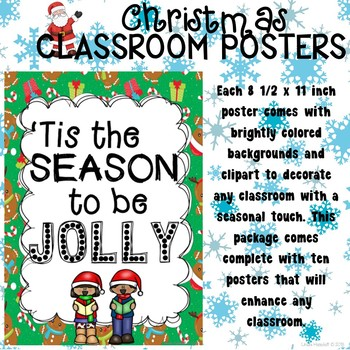 Christmas Poster Set for the Classroom